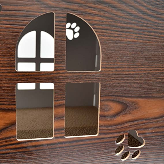 eyepower Cama para Gato 38x38x38cm pequeño S caja cuadrada para mascota con tapa acolchada para sentarse reposapiés incl alfombra rascadora Marrón: ...