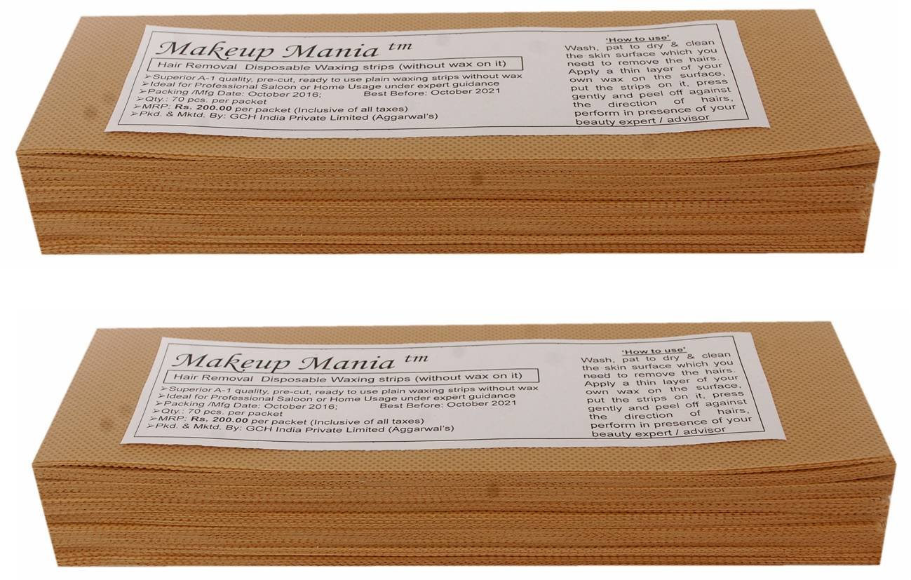 Buy Makeup Mania Plain Waxing Strips - 140 Pieces (Beige) Online at Low Prices in India - Amazon.in