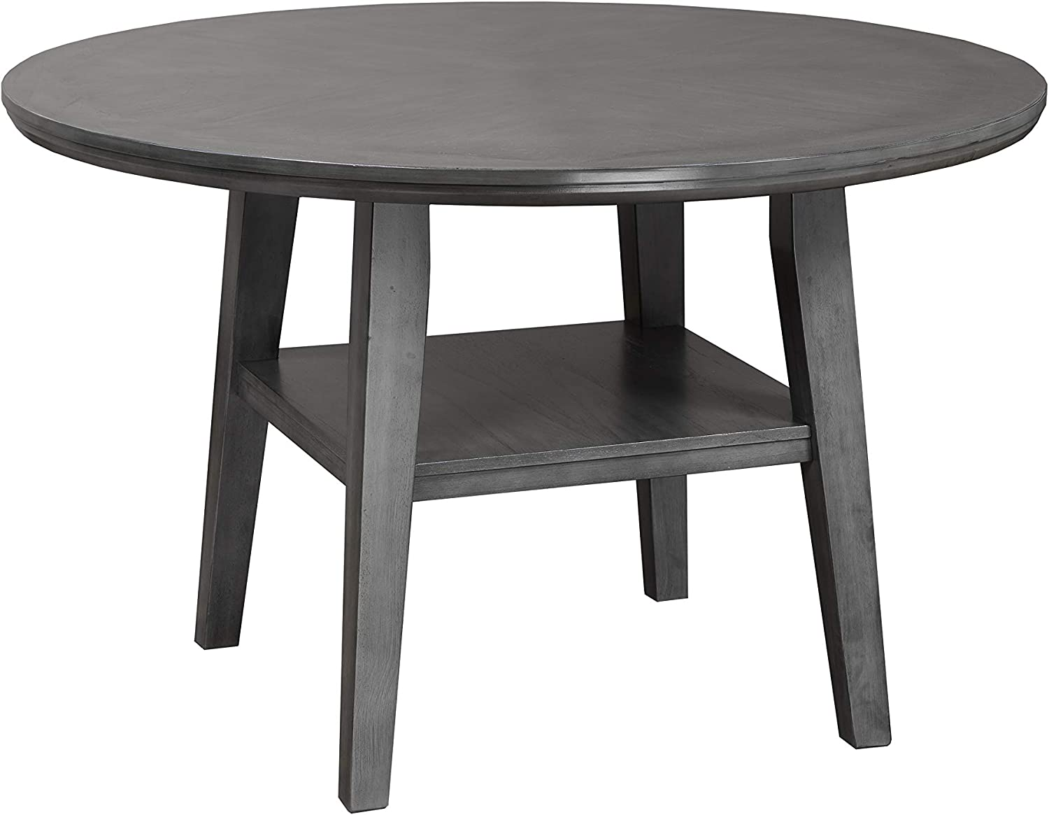 Sandra Solid Wood 42 Round Thick Edged Dining Table In Grey Finish Amazon Ca Home Kitchen