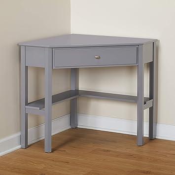 Target Marketing Systems Ellen Corner Desk with One Drawer and One Storage  Shelf