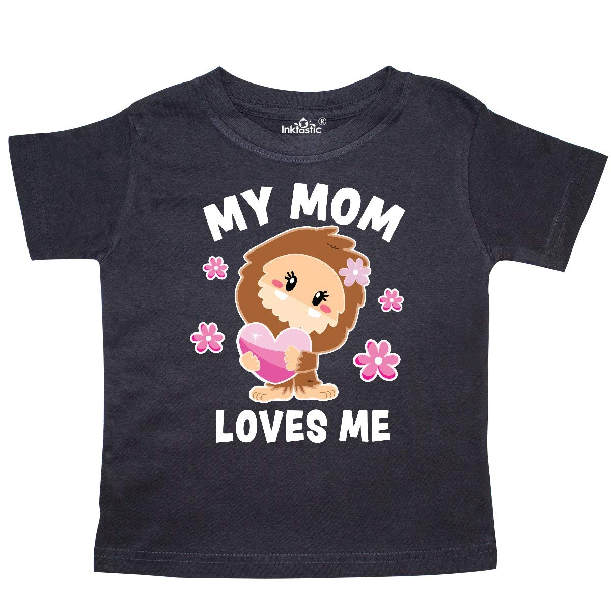 inktastic My Mom Loves Me with Bigfoot Toddler T-Shirt
