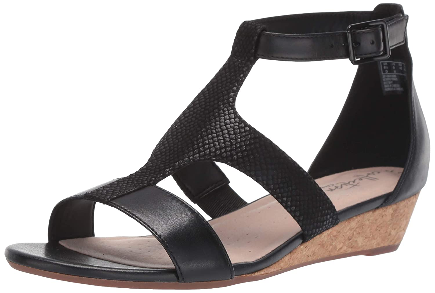 bd9cc32a6da8 Amazon.com  CLARKS Women s Abigail Lily Wedge Sandal  Shoes