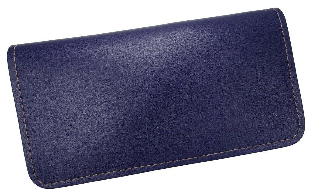 Unisex Leather Standard Checkbook Cover USA Made Purple