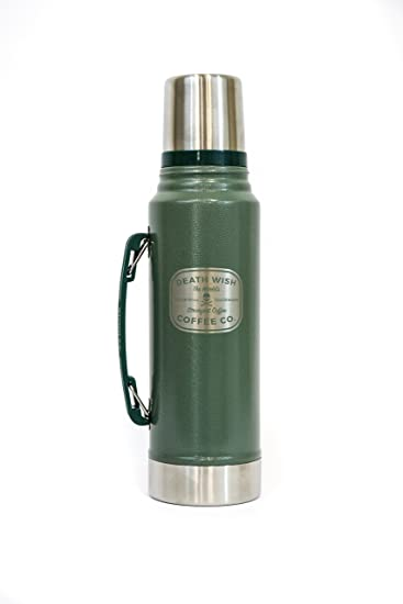 Amazon.com: Death Wish Coffee Stanley Thermos - Vacuum Insulated ...