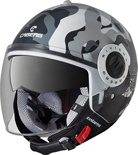 Caberg Riviera V2+ Open Face Motorcycle Helmet Commander Small