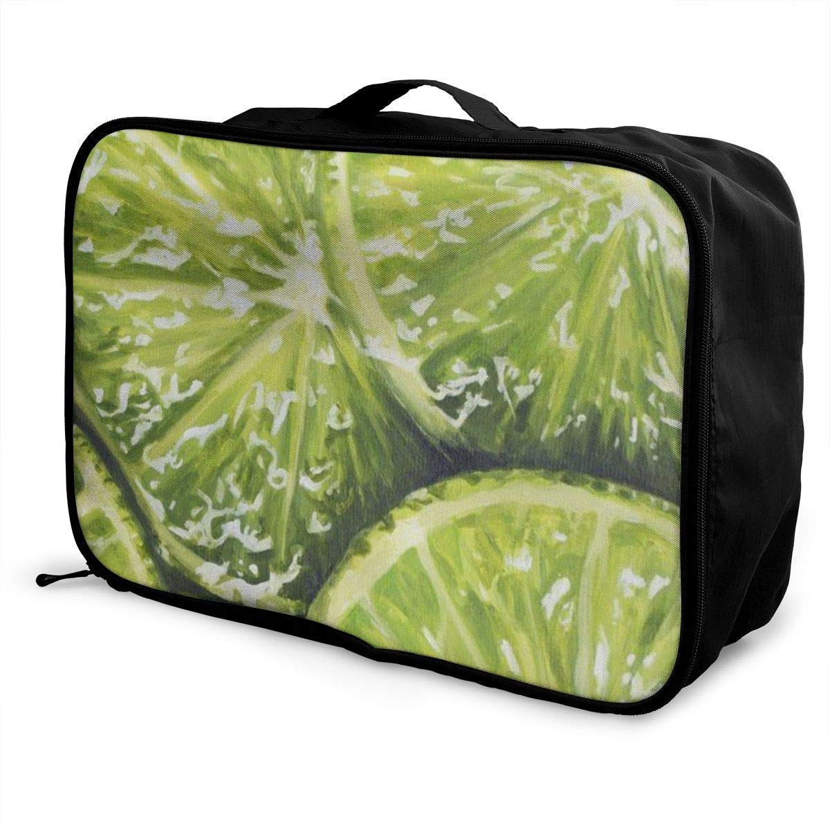 JTRVW Luggage Bags for Travel Portable Luggage Duffel Bag Watermelon Lemon Travel Bags Carry-on in Trolley Handle