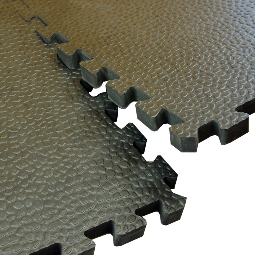 Greatmats Portable Interlocking Pebble Top Horse Stall Mats 15 Pack by Greatmats.com (Image #4)