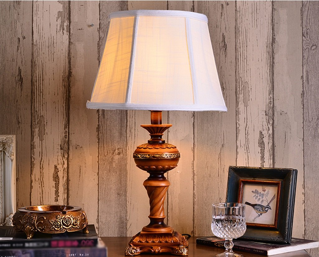 MILUCE American Table Lamp Bedroom Bedside Lamp Creative American Rural Decoration Warm Table Lamps