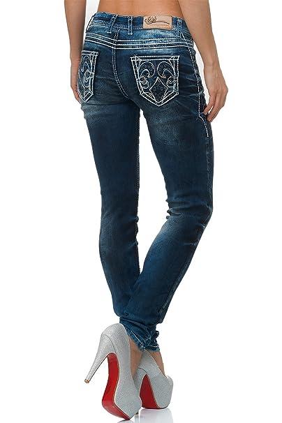 Cipo & Baxx Damen Jeans Hose Regular Fit Dicke Naht: Amazon