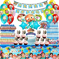 Cocomelon Party Supplies Decorations - 123 Pieces Cocomelon Birthday Decorations Include Happy Birthday Banners…