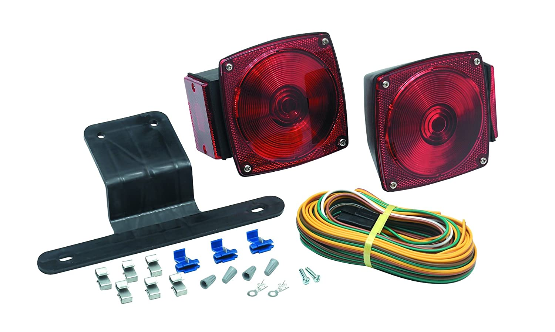 Optronics Trailer Light Kit Black//Red