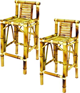 RAM Gameroom Products 28-Inch Bamboo Tiki Bar Stools (Set of 2)