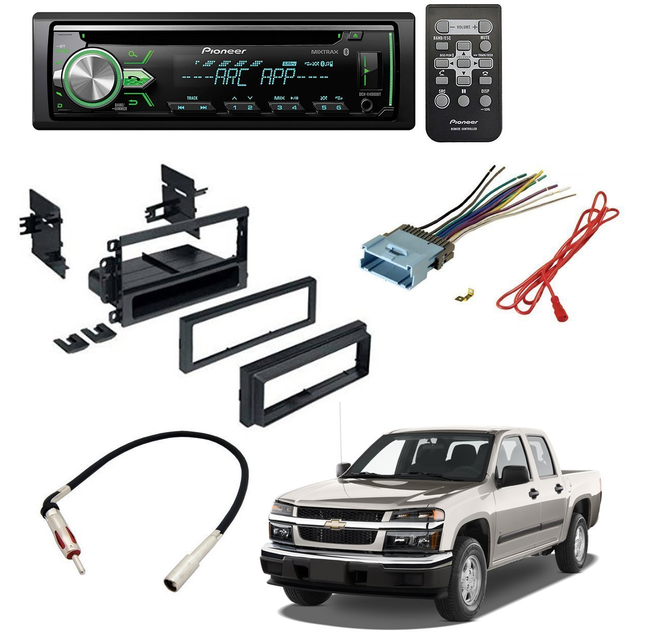 Low Price Chevrolet 2004 2012 Colorado Car Stereo Cd Player Dash Radio Mount Install Kit Wiring Harness Antenna Mounting Wire
