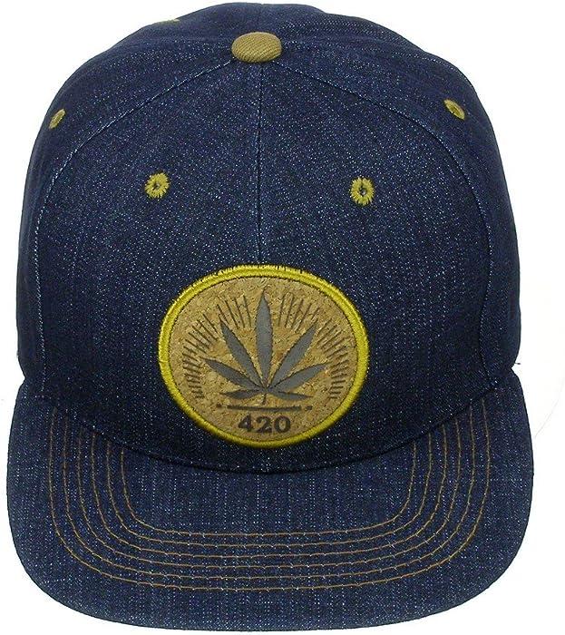Amazon.com  Marijuana Kush Pot Cannabis Weed Day 420 Engraved Cork Flat  Bill Snapback Cap  Clothing c20b80fd2732
