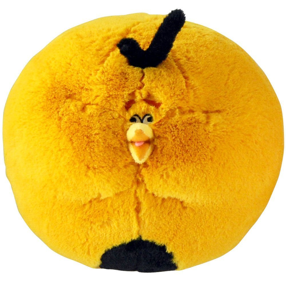 Angry Birds Plush 8-Inch Blown Up Orange Globe Bird with Sound Discontinued by Manufacturer
