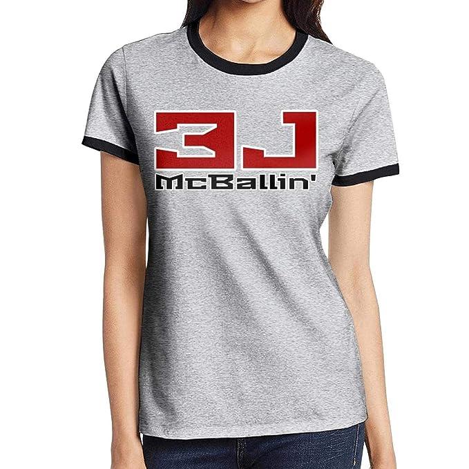 Amazon.com: Camiseta de manga corta para mujer, diseño de ...