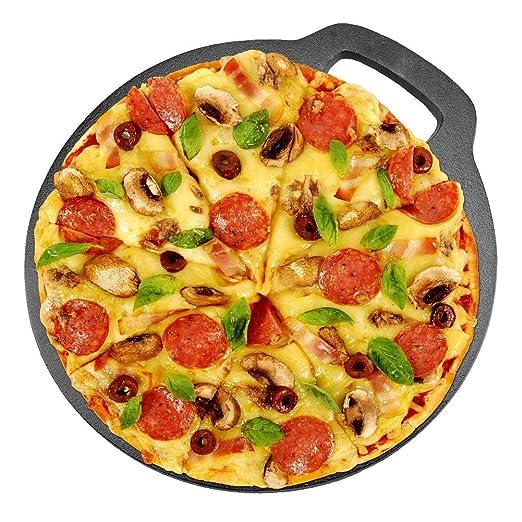 Cocoarm Bandeja de Hierro Fundido para Horno 26cm Bandeja Pizza ...