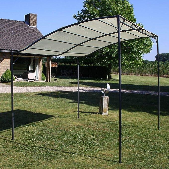 Tidyard Pérgola, Gazebo, Toldo, Cenador para Jardín, Patio o Terraza de Protector Solar Exterior 3 x 2,5 m Blanco Crema y Negro: Amazon.es: Hogar