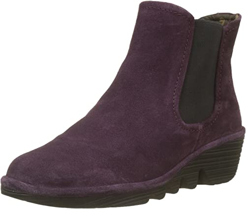 Fly London BRAN901FLY Leather Wedge Slip-On Chelsea Womens Boots