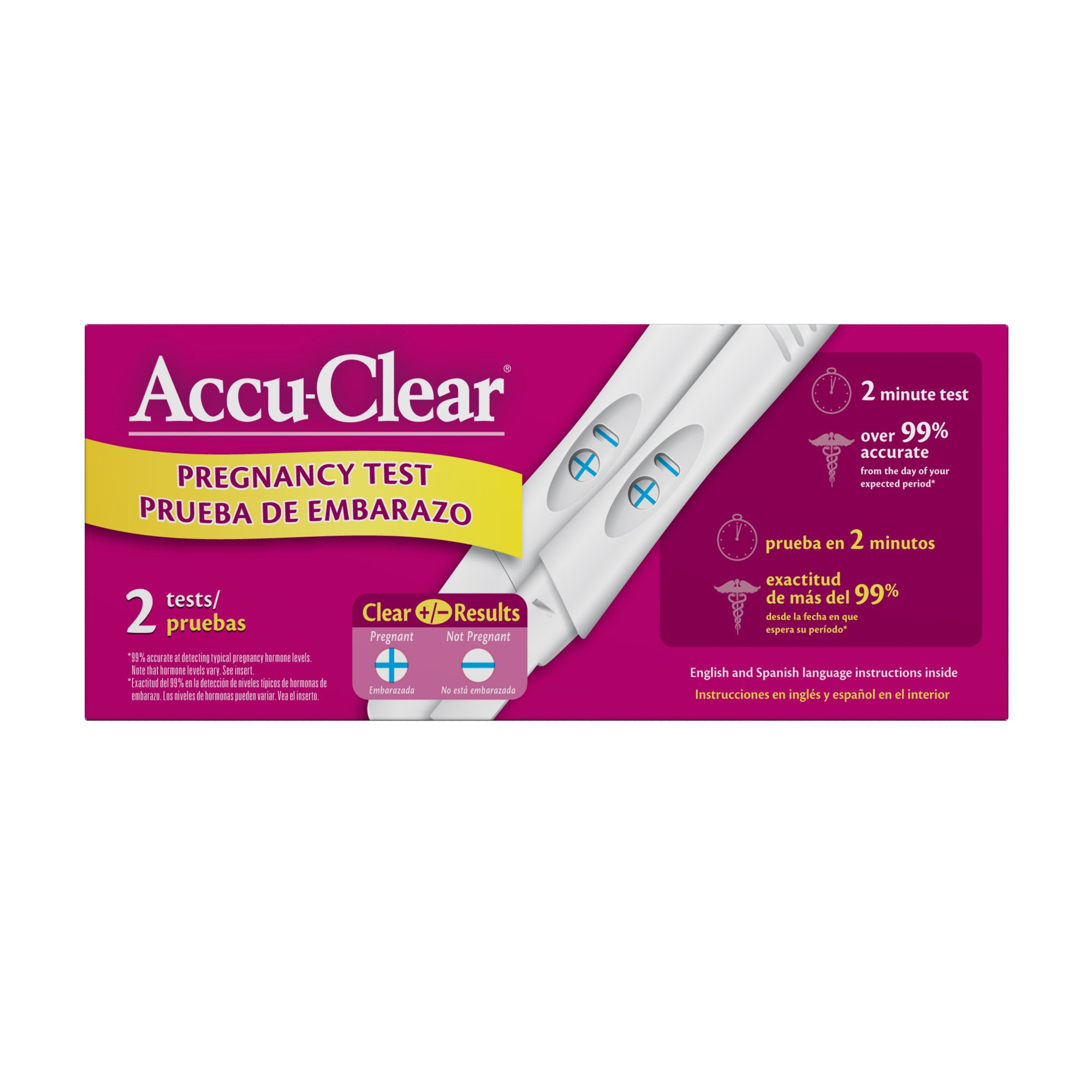 Accuclear Pregnancy Test, 2-Count (Pack of 2)