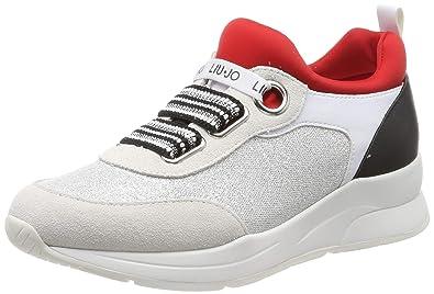 Femme Liu Jo Lace Elastic Basses Karlie WhtslvredSneakers Off 13 6Ybvfyg7