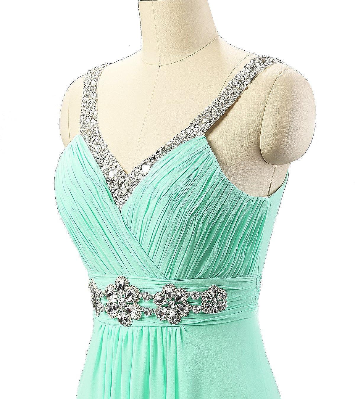 Kmformals Womens Beaded Crystals Prom Dress Bridesmaid Dresses at Amazon Womens Clothing store: