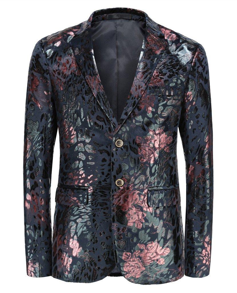 MOGU Mens Slim Fit Sports Coats and Blazers US Size 38 (Asian XXXL) Red