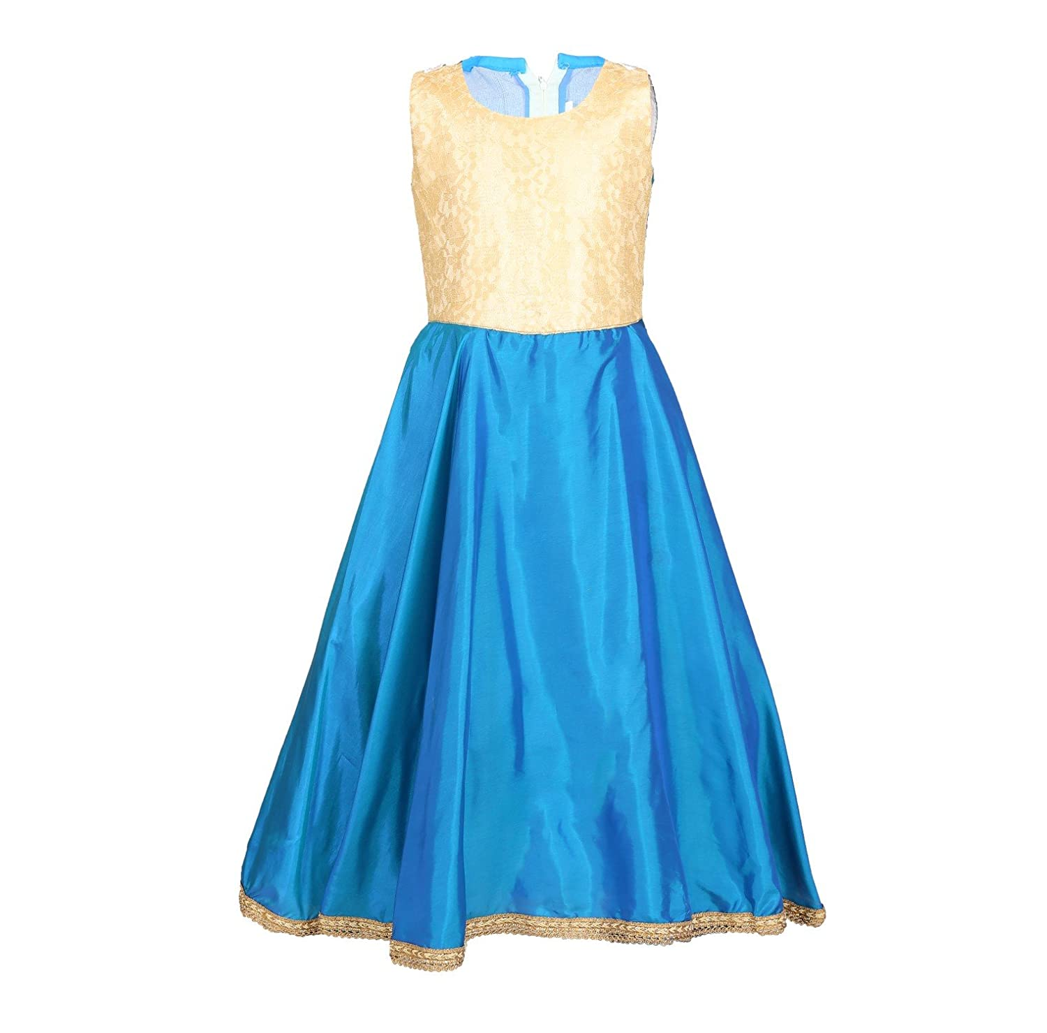 Arshia Fashions Girls Party Wear Gown with Poncho: Amazon.in ...