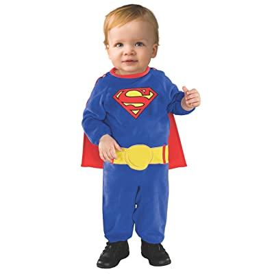 Superman Romper Costume With Removable Cape, Multicolor, One Size: Clothing