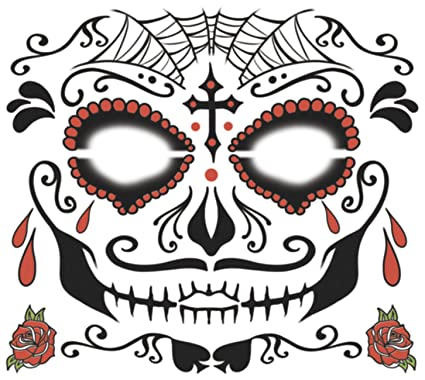Amazoncom Tinsley Transfers Day Of The Dead Temporary Tattoo