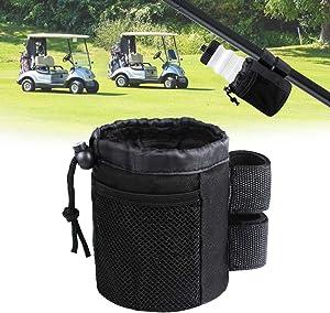 Xislet Cup Holder Replacement for Golf Cart Organizer Rangefinder Holder Body Bar Mount Drink Bottle Holder for EZGO Club Cart Accessories