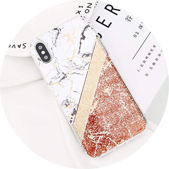 5c0e302db041 Image Unavailable. Image not available for. Color  Glitter Powder Marble Phone  Case for iPhone 7 Plus ...