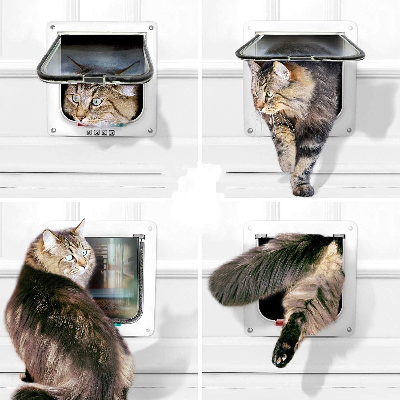 Sailnovo Puerta para Gatos con Cierre Magnético