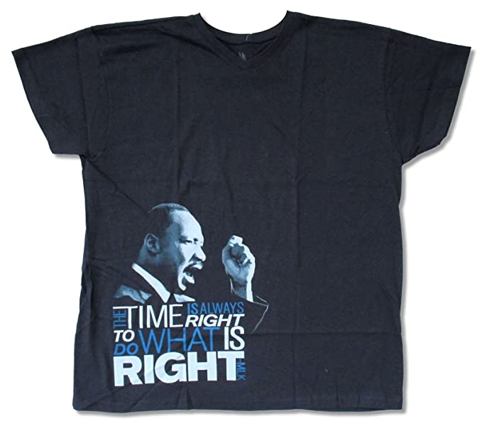 Amazon Com Adult Martin Luther King Jr Right Is Right Navy V