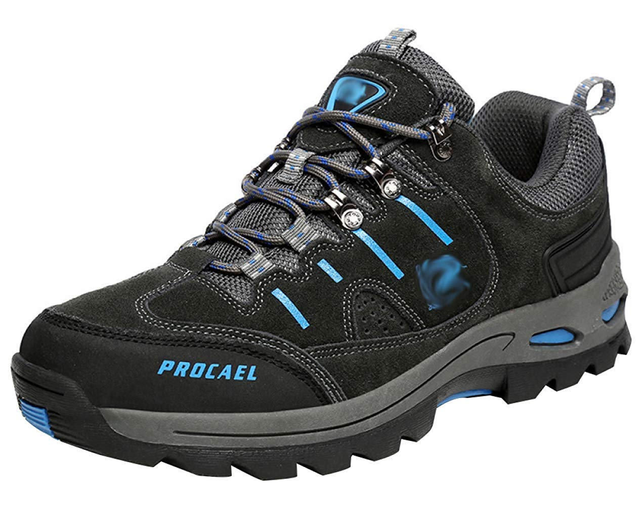 HhGold Männer Wanderschuhe Stiefel Leder Wanderschuhe Turnschuhe Für Outdoor Trekking Training Beiläufige Arbeit (Farbe : 21, Größe : 40EU)