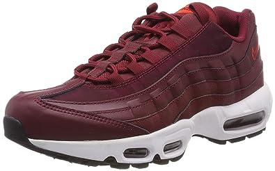 sale retailer 90876 b7ba6 Nike WMNS Air Max 95, Chaussures de Gymnastique Femme, Rouge Team Black  Habanero