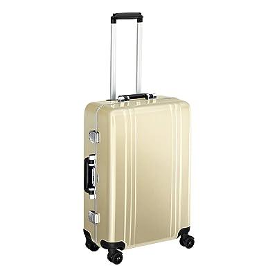 Zero Halliburton Classic Polycarbonate 24 Inch 4 Wheel Spinner Travel Case, Polished Gold, One Size