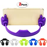 RiaTech Silicone Thumbs Universal Flexible Multi-angle Cute Mini Android Smart Cellphone Tablet Desk Holder - Colors May Very (Pack of 2)
