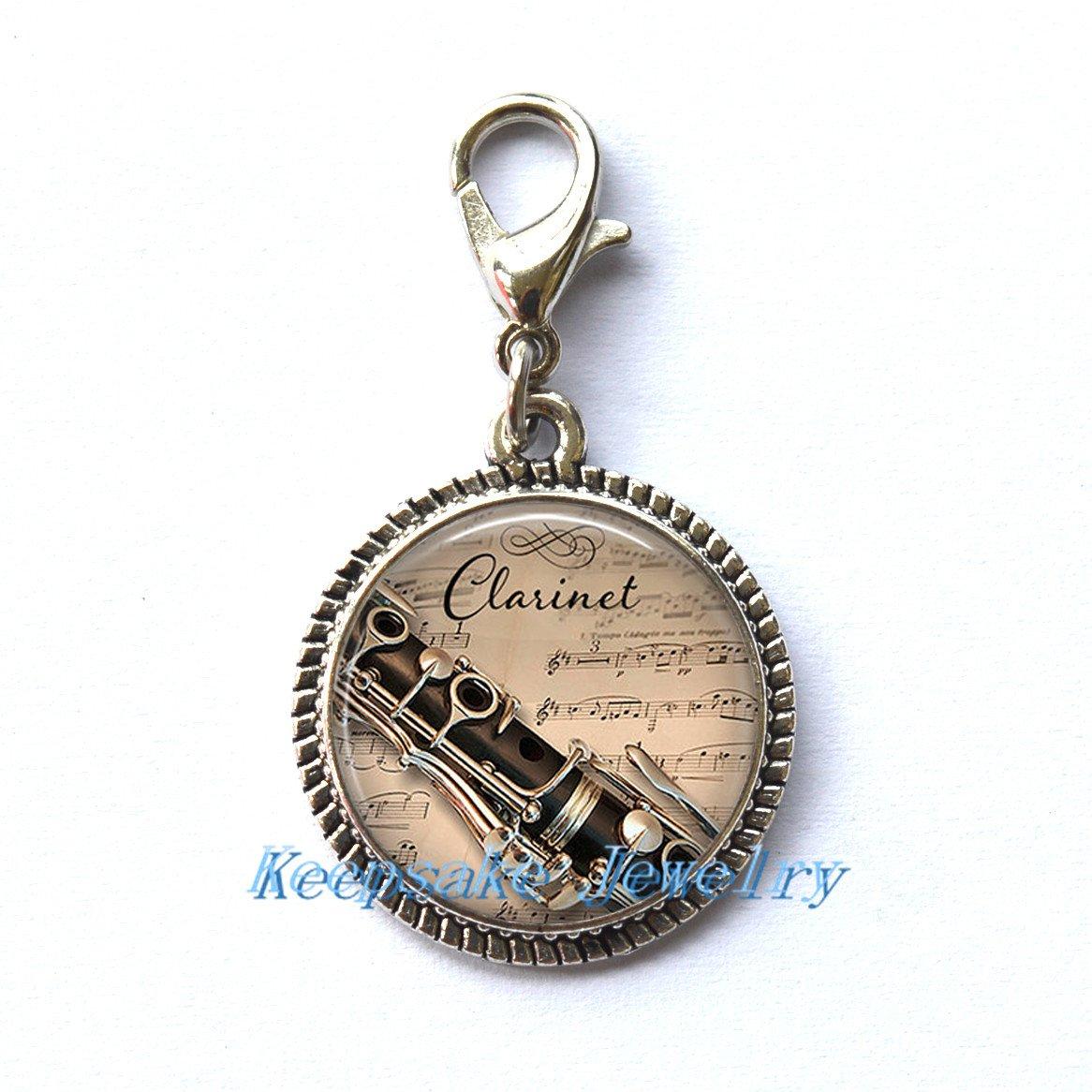 Clarinete y música llavero, diseño de cremallera, ideal para ...