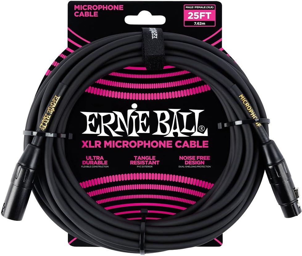 Ernie Ball 25 m/ännlich//weiblich XLR Mikrofonkabel