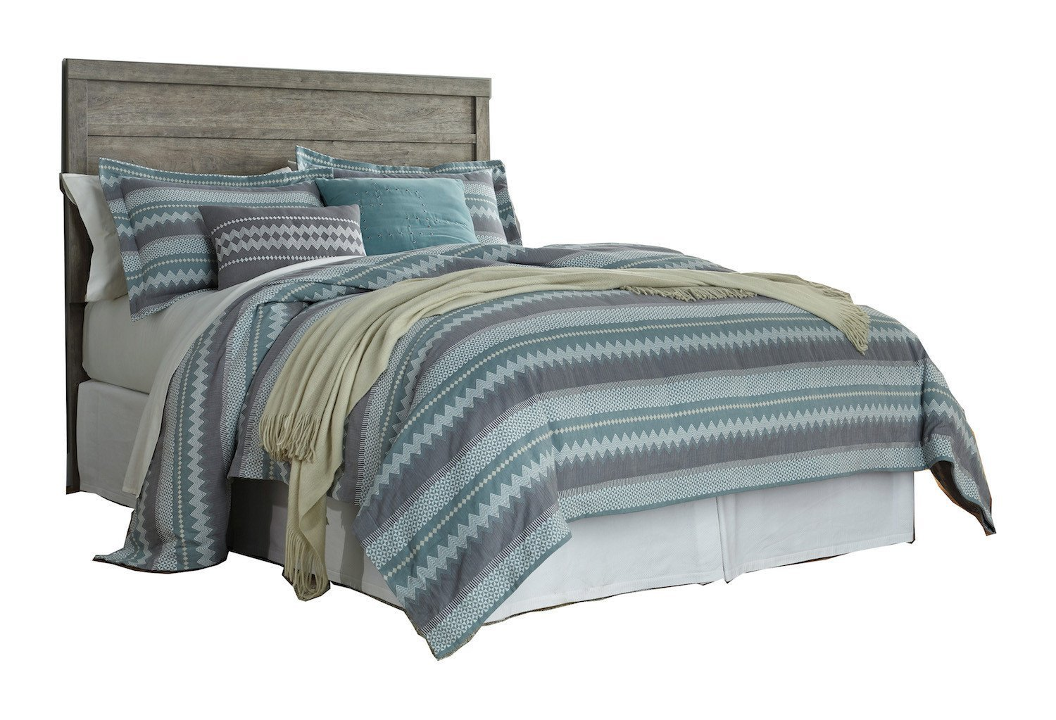 Ashley Culverbach Queen Panel Headboard Weathered Driftwood in Gray