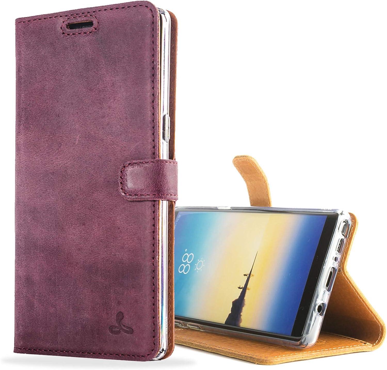 Snakehive Für Samsung Galaxy Note 8 Schutzhülle Klapphülle Echt Leder Kartenfach Mit Standfunktion Handmade In Europa