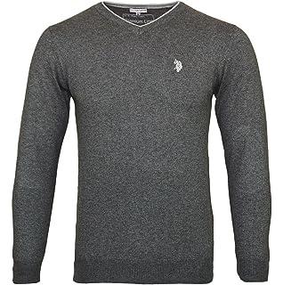 US POLO ASSN. V Neck Sweater Herren Pullover Baumwolle