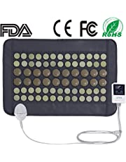 UTK® Far Infrared Natural Jade and Tourmaline Heating Pad Mats for Pain Relief Small Pro 40x60cm With Smart Controller Memory Function Auto Shut Off Timing Setting [FSA or HSA eligible] Travel Bag Included