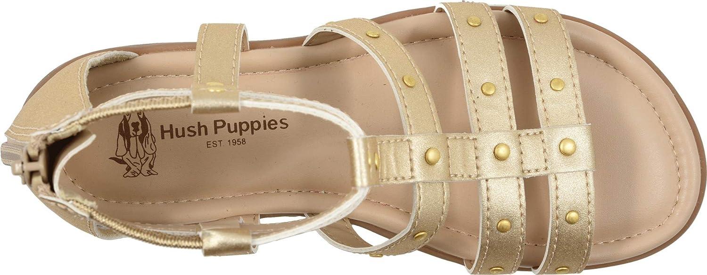 Hush Puppies Girls Addie Sandal 060 Medium US Big Kid Gold