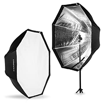 "CRAPHY Difusor Softbox Octágono 47""/120cm para Estudio Flash"
