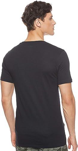 TALLA S. Lacoste 3 Pack Camiseta Hombre, Essentials, Cuello Pico, Ajuste Slim, Colores Lisos - Negro