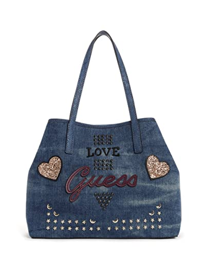 Guess Errate Vikky, Tasche für Damen, U, Blue Denim: Amazon