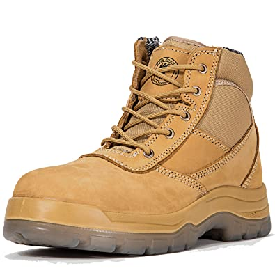 570a31ca0 ROCKROOSTER Men's Work Boots Waterproof, Steel Toe, Antistatic, Water  Resistant Leather Shoes,