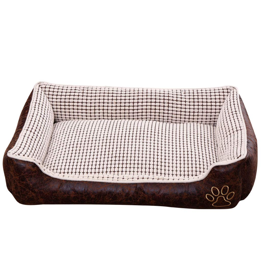 50x40x20cm PLDDY Dog Nest,Dog Bed,Pet Sofa,Pet Mat, Removable, Four Seasons Universal, Warm And Thick, Small Medium Large Dog, Teddy golden Dog House, Cat Nest,Kennel, white (Size   50x40x20cm)